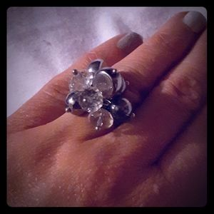 Stylish Bead Topped Embellishment Ring